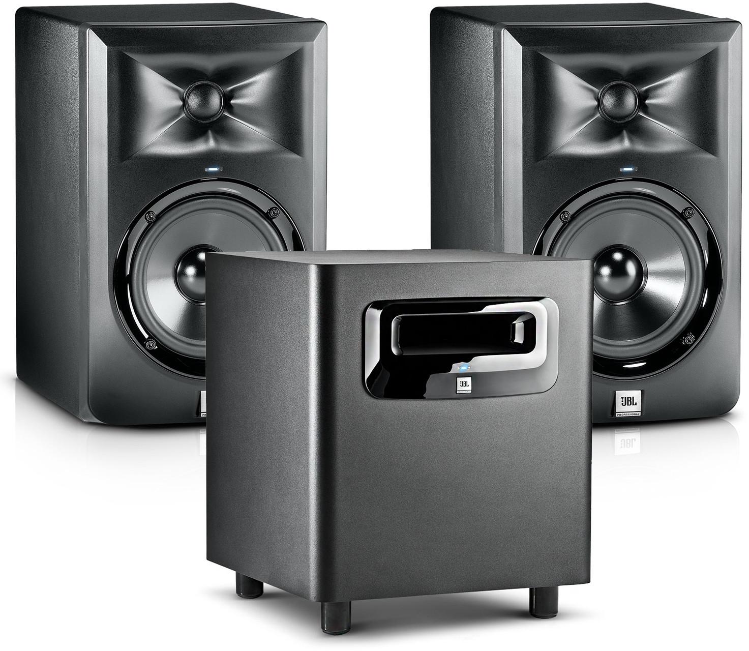 JBL 2x LSR 305 + 310s - zestaw monitorów studyjnych