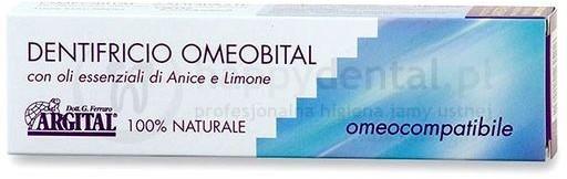 Argital Omeobital 75ml - w 100% naturalna pasta wybielająca na bazie olejków any