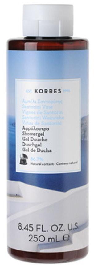 Korres Santorini Vine Showergel Żel pod prysznic o zapachu kwiatu winorośœli 250 ml
