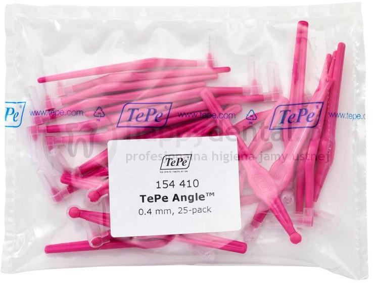 TePe ID Angle (0.40mm) różowe 25szt. - zestaw szczoteczek międzyzębowych (szczot