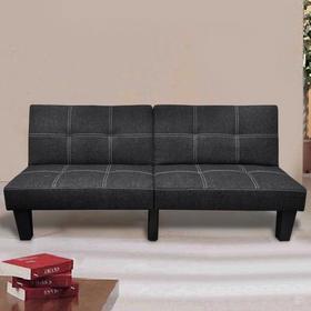 vidaXL Sofa rozkadana w kolorze czarnym