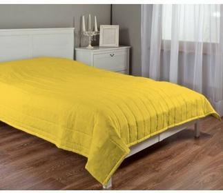 Dekoria Narzuta pikowana w pasy, żółty , szer.170 x dł.210 cm, Loneta