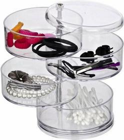 Wenko Pudełko, pojemnik na kosmetyki, biżuterię, drobiazgi - 4 poziomy 7E5 40088