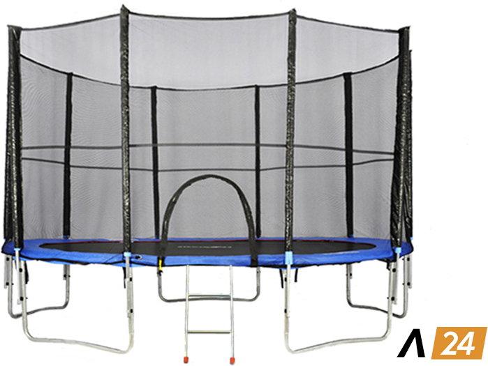 Athletic24 427 cm - Trampolina ogrodowa z siatką zabezpieczającą