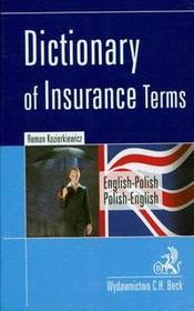 Roman Kozierkiewicz Dictionary of insurance terms angielsko-polski polsko-angielski