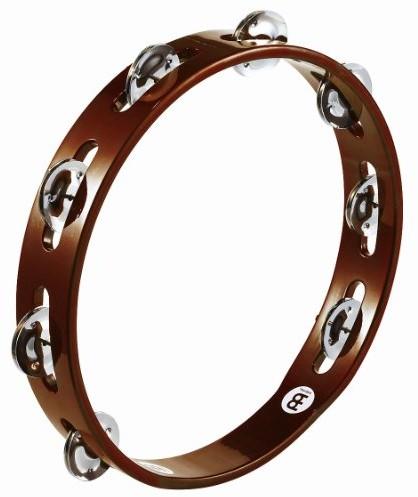 Meinl Percussion meinl Percussion ta1ab drewno Tamburyn opasek zaciskowych ze stali z 25,40cm (10cale) Średnica African Brown TA1AB