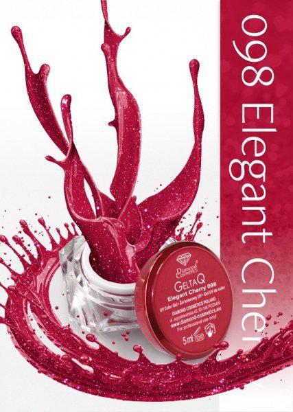 Semilac Diamond Żel UV kolor GeltaQ 098 Elegant Cherry