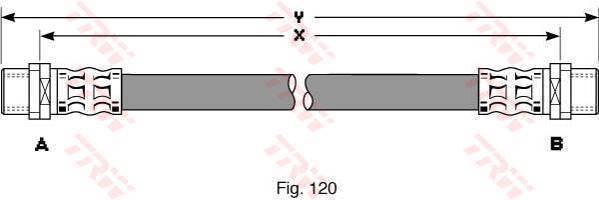 TRW Przewód hamulcowy elastyczny PHA294