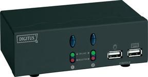 Digitus przełącznik KVM DC-11403 2 15-pin D-SUB USB mikrof+głoś. 1920 x 14
