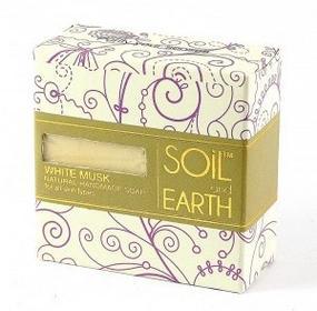 Soiland Earth Naturalne Mydło w kostce Białe Piżmo (White Musk), 100g Soil & Earth - re