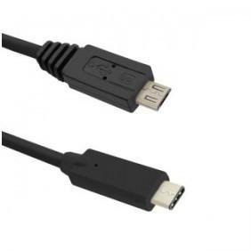 Qoltec Kabel USB 3.1 typ C męski   Micro USB 2.0 B męski   1.2m KKQTKUBU0240 [5388110]