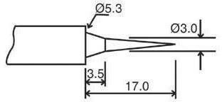 Velleman Grot lutowniczy BITC10N2 588424 Kształt ołówka Długość grotu lutowniczego 17 mm 0.8 mm 1 szt