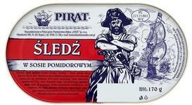 Łosoś Śledź w sosie pomidorowym 170 g Pirat