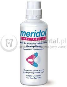Meridol Gaba Halitosis 400ml - płyn zwalczający przyczyny przykrego zapachu z us