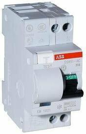 ABB DS951 B16-30mA AC wyłącznik różnicowo-prądowy 30mA z członem nadprądowym 16A