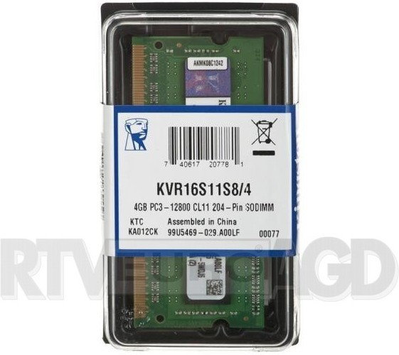 Kingston 4 GB KVR16S11S8/4