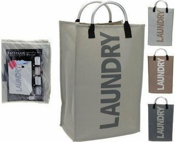 Kosz na pranie LAUNDRY, torba 40 litrów - kosz na brudną bieliznę 6A1