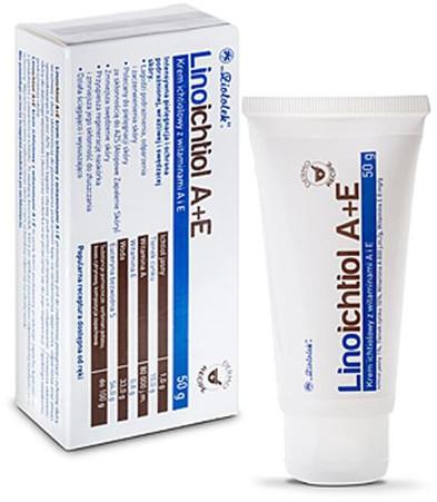 Ziołolek LINOICHTIOL Krem ichtiolowy z witaminą A+E 50g