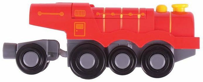 lokomotywy elektryczna na baterie - czerwona