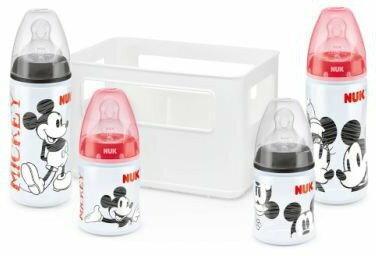 Disney NUK Zestaw butelek + skrzynka na butelki Mickey First Choice 10225103