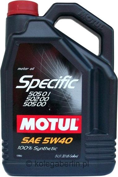 Motul Specific 505 01 502 00 505 00 5W-40 5L