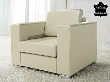 Beliani Skórzany fotel bezowy - sofa - HELSINKI