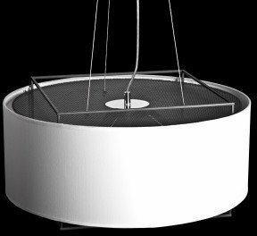 Lampy inspirowane Lampa wisząca inspirowana projektem Lewit dla Metalarte biała , Czarny LWT-S