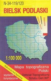 Bielsk Podlaski Białowieża mapa 1:100 000 WZKart