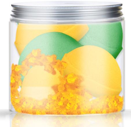Nacomi Zestaw półkul musujących do kąpieli o zapachu pomarańczy i zielonej herbaty 4 sztuki