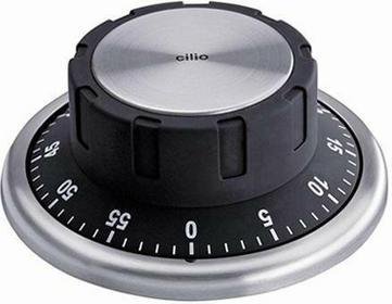 Cilio CI-294545 - Minutnik z magnesem, 60 min, czarny