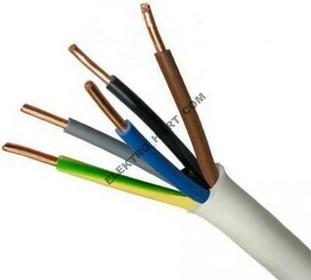 Elektrokabel Przewód instalacyjny okrągły 450/750V YDY 5x1,5