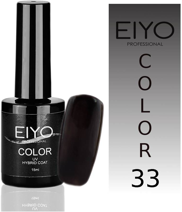 EIYO Lakier hybrydowy, Secret - Czarny - 33 - 15ml