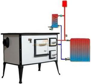 Wamsler 888 8889412 Kuchnia węglowa6 kW Kominek z płaszczem wodnym, moc płaszcza: 3kW (w