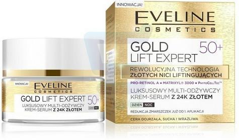Eveline Gold Lift Expert 50+ Luksusowy multi odżywczy krem serum do twarzy 5