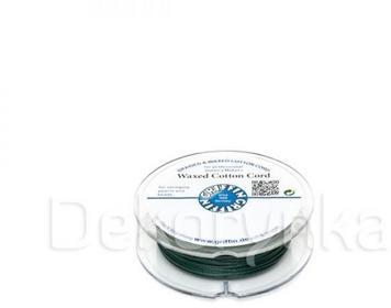 Griffin WAXED COTTON CORD Bawełniany sznurek woskowany 1mm 20m - Green