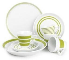 Zestaw obiadowy 20cz. S&P Stripes zielony