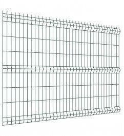 Polbram panel ogrodzeniowy 3D zielony ocynkowany 152x250 cm, oczko 50x200 mm, śr