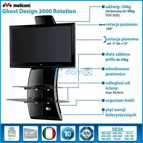 Meliconi Półka pod TV z maskownicą GHOST DESIGN 2000 z rotacją