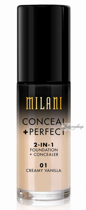 MILANI MILANI - CONCEAL + PERFECT - 2-IN-1 FOUNDATION+CONCEALER - Podkład kryjący do twarzy - 02 NATURAL MILPDTW-DOTW-01