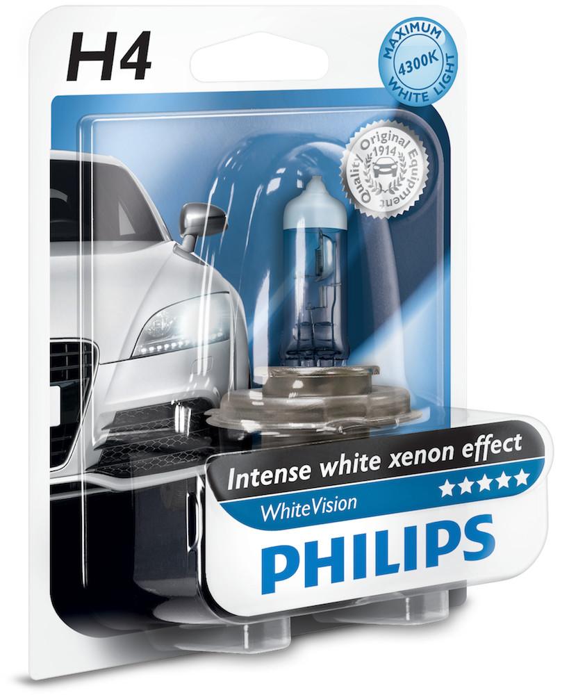 Philips H4 12V 60/55W P43t WhiteVision 1szt.