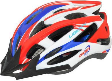 AXER Bike Kask rowerowy Liberty - Czerwony/Niebieski 1474