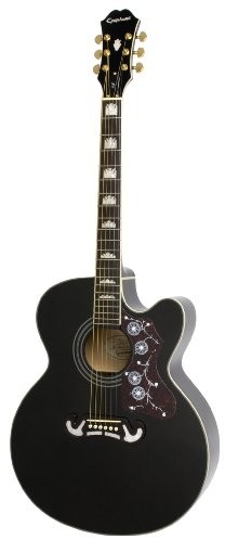Epiphone EJ-200SCE (Solid Top) gitara elektroakustyczna, kolor: czarny EEJ2BKGH1