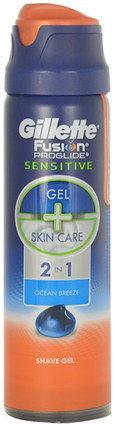 Gillette Fusion Proglide Sensitive Shave Gel 2in1 170ml M Żel do golenia Ocean Breeze