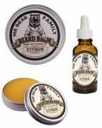 Mr Bear Family Citrus Cytrusowy zestaw do brody i wąsów: wosk balsam i olejek