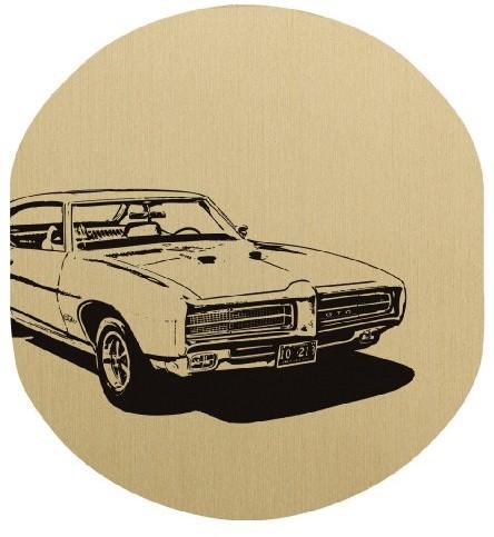Beyerdynamic 709336 nakładki na słuchawki Custom One Pro, kolor złoty, wzór samochód C-ONE CV GOLD CAR