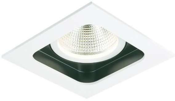 Mistic Lighting Oczko LAMPA sufitowa QUAD QR111 MSTC-05355510 metalowa OPRAWA reflektorowa wpust biały
