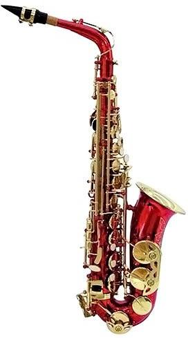 Dimavery DIMAVERY 26502375SP-30EB saksofon altowy Czerwony SP-30 Eb Alto Saxophone, red