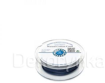Griffin WAXED COTTON CORD Bawełniany sznurek woskowany 1mm 20m - Dark Blue