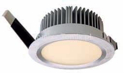 Tomix .pl Szczelne oczko ledowe IP44 9W LED szczotkowany, ciepła biel (D565131)