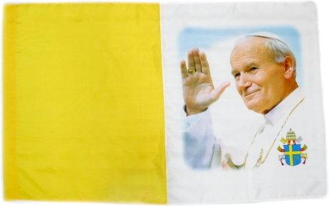 Opinie o Flaga Papieska Zdjęcie Jan Paweł II 110/70 cm